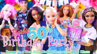 DIY - How to Make: Barbie 60th Birthday Party Room in a Box PLUS Custom Drip Cakes
