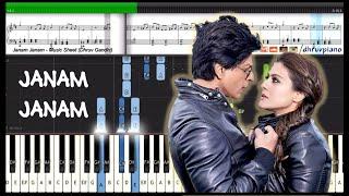 Janam Janam (Dilwale) Arijit Singh & SRK || Piano Tutorial +