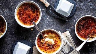 RECETTE NOËL 2020 : Crème brûlée parfumée au fromage de chèvre frais - Canal Gourmandises- #avecmoi