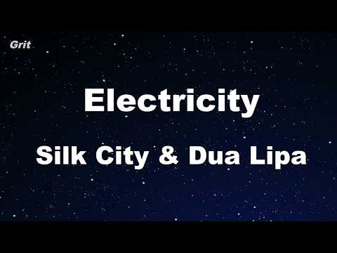 Electricity Feat. Diplo & Mark Ronson - Silk City, Dua Lipa Karaoke 【No Guide Melody】 Instrumental Mp3