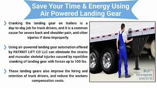 Make Your Truck Driver Hiring and Retention Easy with On-Lift air powered l