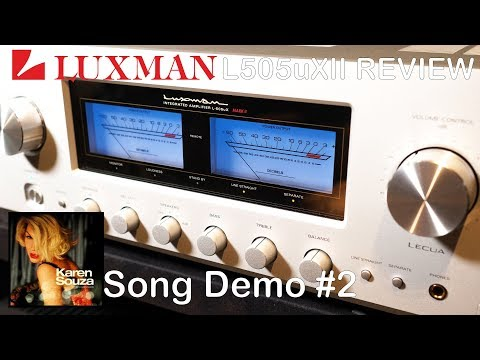Luxman L505uXII Integrated HiFi Amplifier Review Song Demo #2 + Chord Qutest KEF Reference JPlay