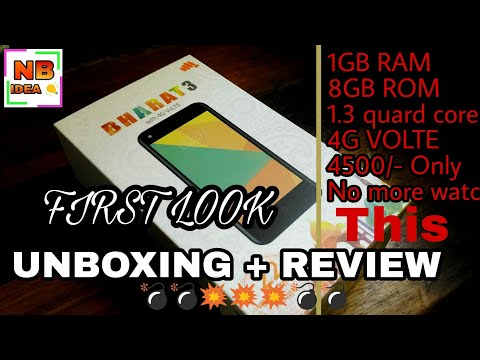 Micromax Bharat 3 Unboxing + Review In HINDI