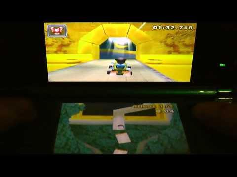 Mario Kart Walkthrough Shortcut In Gba Bowser Castle 1 By