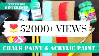 167. Difference Between Chalk Paint & Acrylic Paint ♡ Growing Craft ♡fevicryl♥handmade Gifts & Decor