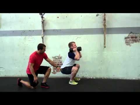 Dumbbell Front Squat Exercise Demonstration