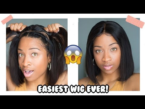 Did I Do It Better? Simple Wig For Newbies! Built In Wig Cap, Preplucked, Bleached Knots, Fake Scalp