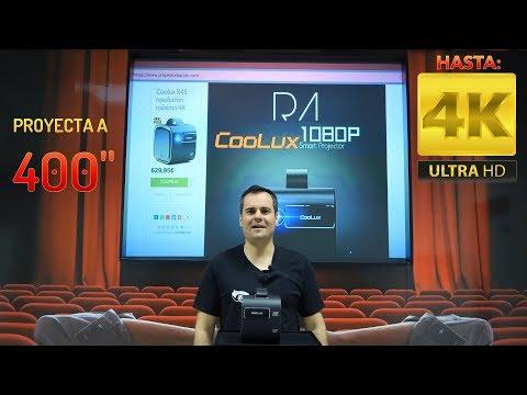 Coolux R4S el proyector 1080p y 4K tope calidad en 400 pulgadas