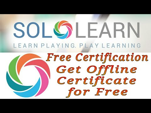 SoloLearn   How to use Solo-learn   Free Certification   How to Get ...