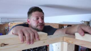 How to attach top plates after framing walls