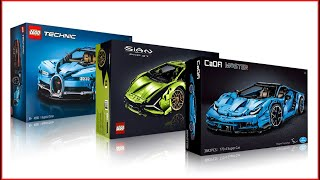 COMPILATION LEGO TECHNIC Cars CaDa Lamborghini + 42083 Bugatti Chiron + 42115 Lamborghini Sián