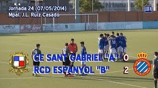 preview picture of video '2013-14 Cadete Preferente - J25 - CE Sant Gabriel-RCD Espanyol 0-2'