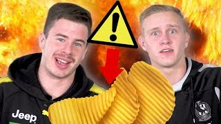 🔥IS THIS THE FASTEST HOT CHIP CHALLENGE EVER?🔥AFL Players Try The Spicy Chip Challenge