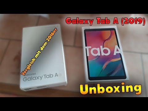 ♦️ Samsung Galaxy Tab A (2019) Unboxing, Erster Eindruck und Vergleich mit dem Tab A (2016) - German