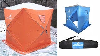 Палатка зимняя куб woodland ice fish 2