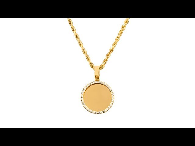 Diamond Rest In Peace Memory Frame Pendant In 14k Yellow Gold 110 Ctw