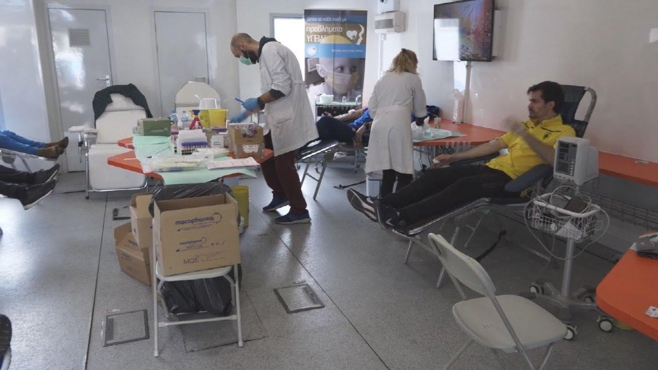 Αιμοδοσία στο Ολυμπιακό Αθλητικό Κέντρο Αθηνών «Σπύρος Λούης»