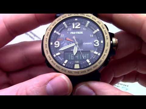 Часы Casio Pro Trek PRG-600YL-5D - Инструкция, как настроить от PresidentWatches.Ru