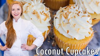Coconut Cupcakes With Italian Coconut Buttercream