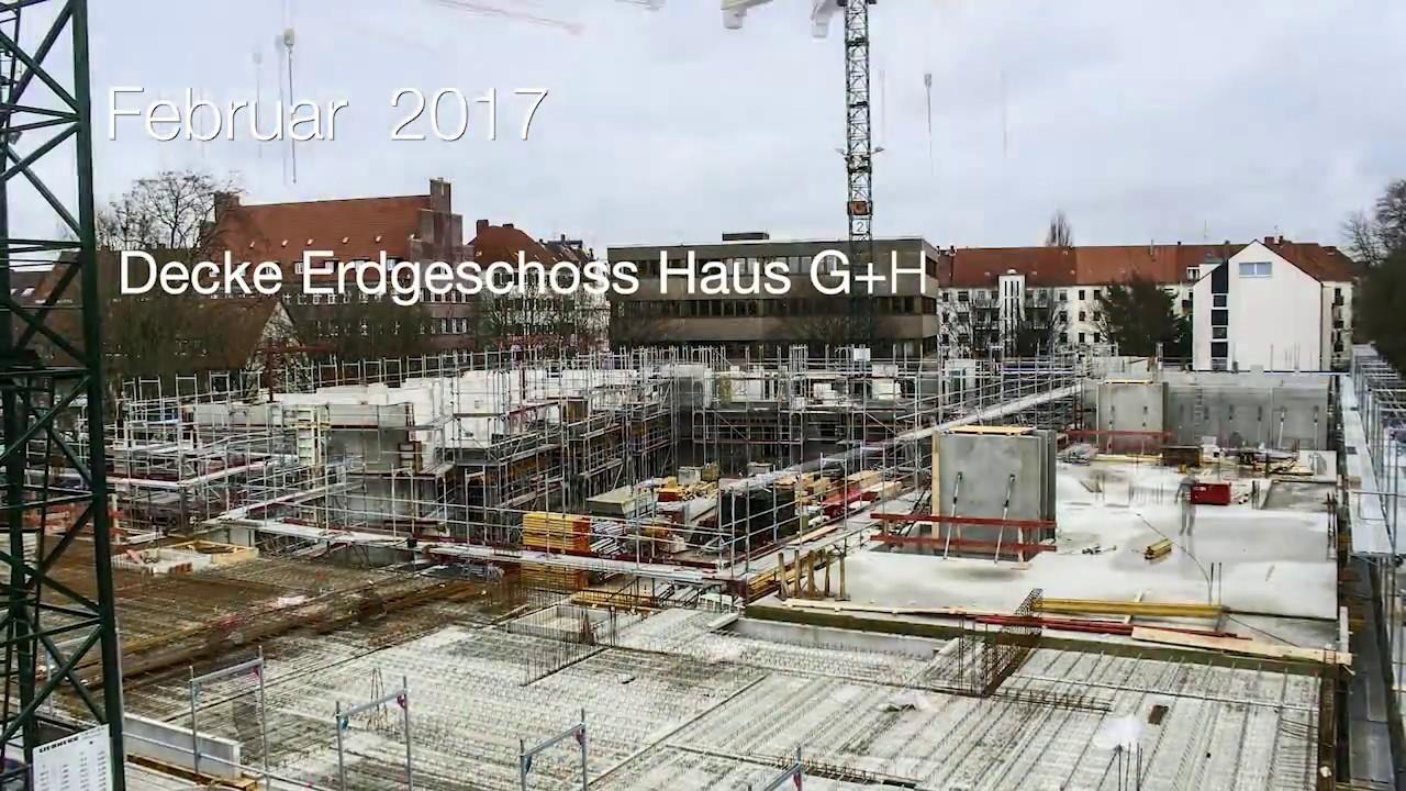 Gundlach | Zeitraffer Januar - März 2017 | Hannover - Altenbekener Damm | Wohnen am Maschsee