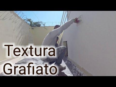 Textura em parede pintada