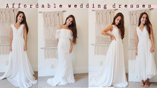 CHEAP WEDDING DRESSES   Jj's House Review And Try-on