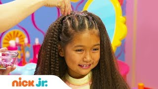 How to Create a Glittery Dance Hairdo 💃🏻 Hair DIY Style Files | Sunny Day's Style Files | Nick Jr.