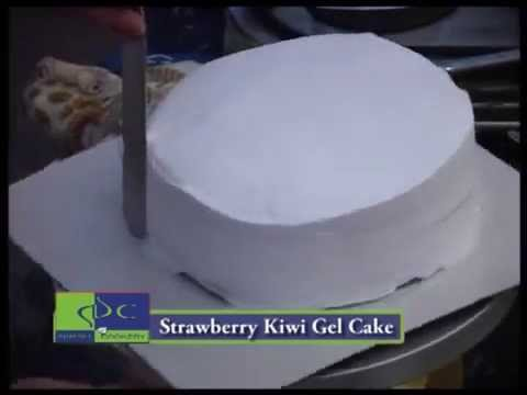Strawberry Kiwi Gel Cake