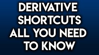 Derivative Shortcuts Derivative Rules (Power/Product/Quotient/Chain/Trig/Exponential/Log/Rules)