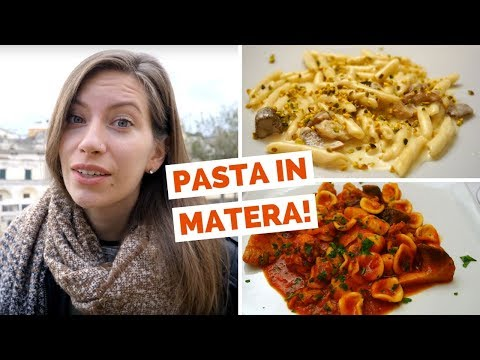 Italian Food Review – Eating Local Pasta and Dessert in Matera, Italy