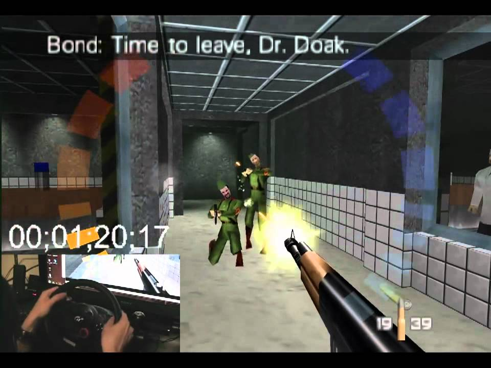 Clearing Out Goldeneye 007 With A Steering Wheel
