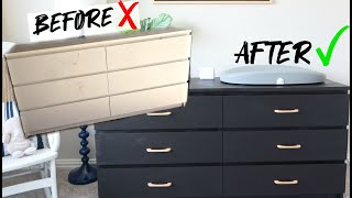 IKEA MAKEOVER | Revamping Ikea Malm Dresser