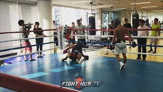 """WATCH NOAYA """"THE MONSTER"""" INOUE KNOCKDOWN A SPARRING PARTNER! SHOWS HIS CRAZY POWER ON THE MITTS"""