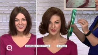 CHI Smart GEMZ Styling Iron and Travel Iron with Bag and Clips on QVC