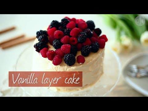 Video Vanilla layer cake | Video recipe