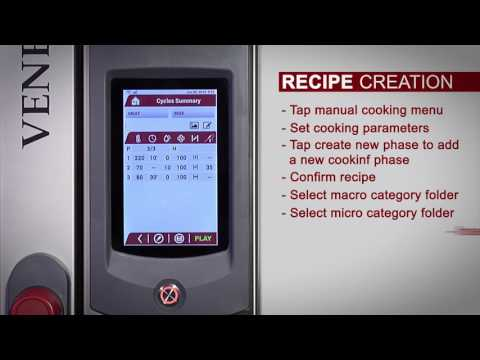Ovens Series Venexia - Create Recipe