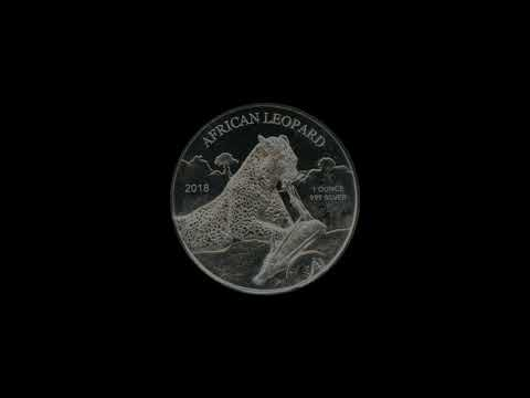 Video - 1 oz Silbermünze Afrika Ghana Leopard - 2018