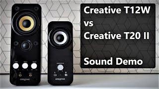 Creative T12 Wireless vs Creative T20 Series II      Sound Demo