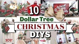 10 Dollar Tree CHRISTMAS DIYS | DIY Dollar Tree Farmhouse Christmas Decor 2019 | Krafts By Katelyn