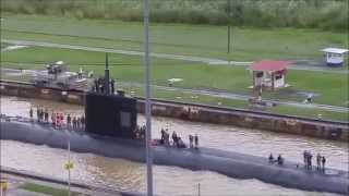 US Nuclear Submarine passes through Panama Canal | Sunday November 1, 2015 | Kholo.pk