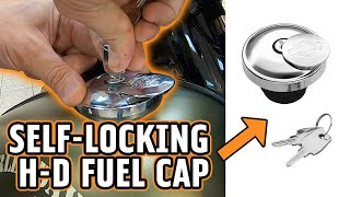 How to Open a Harley-Davidson Self-Locking Gas Cap