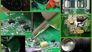 Induktionskochfeld defekt DIY Netzplatine 220€ vs 10cent Schaltdiode D6