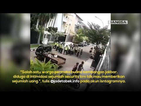 VIRAL! Aksi Premanisme Sekelompok Satpam di Jakarta Barat, Pungli kepada Warga Perumahan