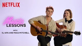 Guitar Lessons With KJ Apa And Maia Mitchell | The Last Summer | Netflix