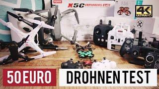 TOP 5 BESTE DROHNEN UNTER 50 EURO ► Der Billig Drohnen Test !