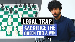 Legal's Trap | Winning Opening Trap For White | Chess Opening Tricks And Traps To Win Fast