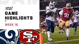 Rams vs. 49ers Week 16 Highlights | NFL 2019