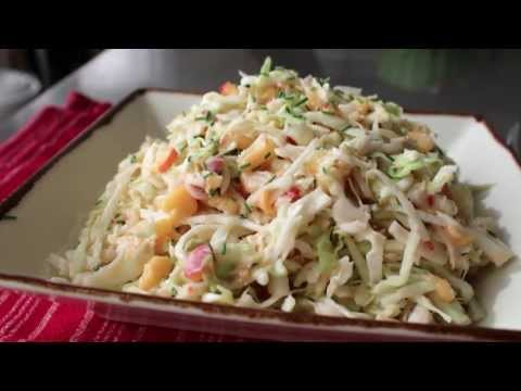 Spicy Peach Coleslaw Recipe – Summer Peach and Cabbage Salad