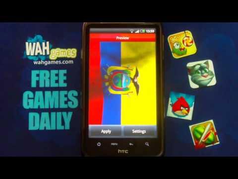 Video of Ecuadore flag lwp Free