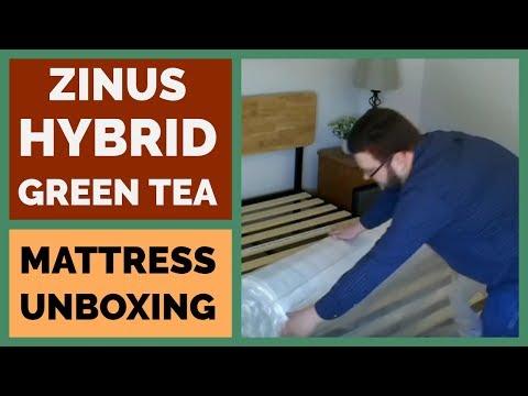Zinus 8 Inch Hybrid Green Tea Foam and Spring Mattress Unboxing